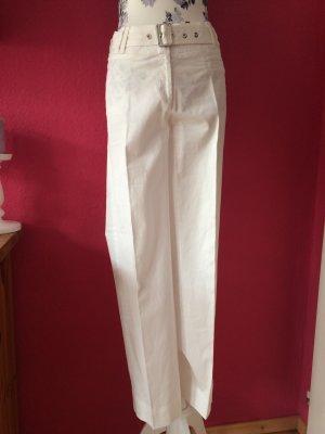 Airfield Pantalone a vita bassa bianco Cotone