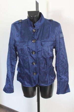 Airfield Biker Jacket dark blue-blue cotton