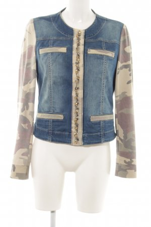 Airfield Denim Jacket camouflage pattern casual look