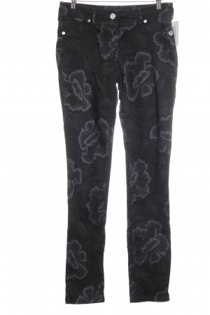 Airfield Jeggings schwarz-graublau Blumenmuster Casual-Look