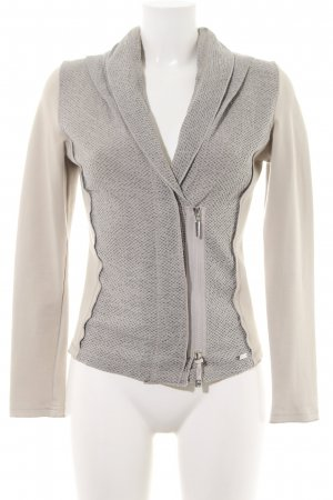 Airfield Jersey Blazer natural white-light grey graphic pattern business style