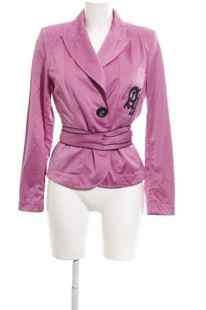Airfield Blazer en jersey rose style mouillé