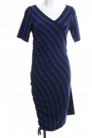 Airfield Jersey Dress blue-black striped pattern casual look