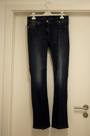 Airfield Boot Cut Jeans dark blue-blue cotton