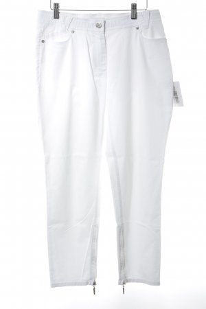 Airfield Peg Top Trousers natural white-silver-colored simple style