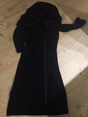 Airfield Vestido de tela de jersey negro