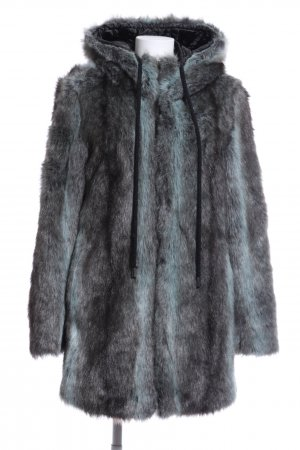 Airfield Fake Fur Coat light grey-turquoise color gradient casual look