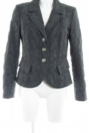 Airfield Short Blazer dark green abstract print casual look