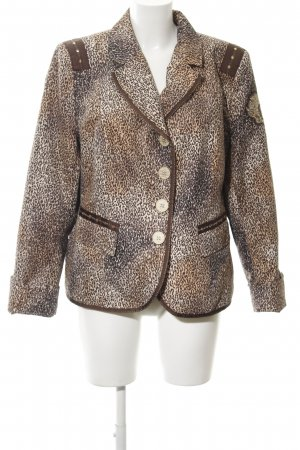Airfield Short Blazer leopard pattern business style