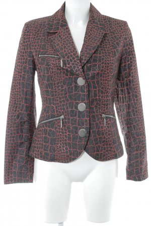 Airfield Short Blazer black-red animal pattern wet-look
