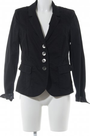 Airfield Kurz-Blazer schwarz-silberfarben Business-Look