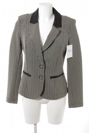 Airfield Short Blazer black-natural white allover print business style