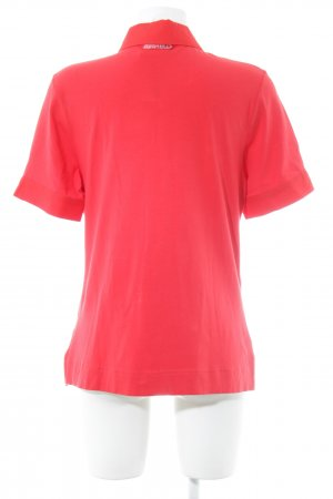 Airfield Short Sleeved Blouse red extravagant style