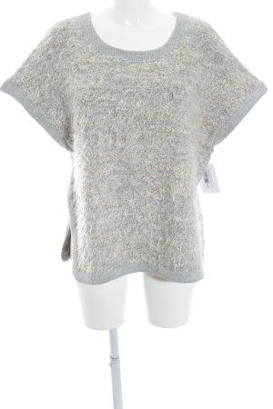 Airfield Jersey de manga corta gris claro-crema moteado mullido