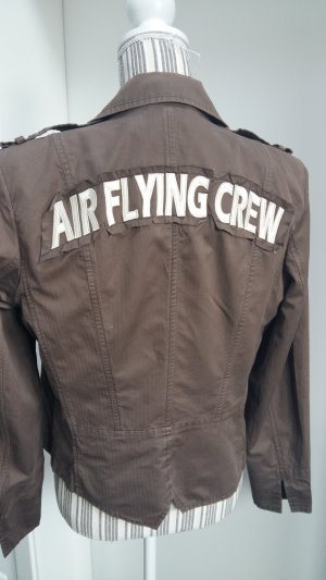 Airfield Short Jacket gold-colored-grey brown