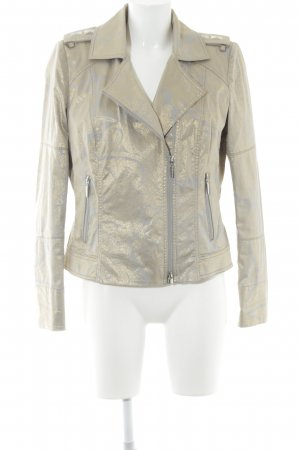 Airfield Short Jacket grey brown-gold-colored embellished pattern elegant