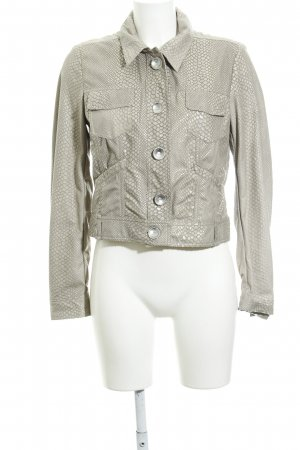 Airfield Short Jacket oatmeal-beige animal pattern animal print