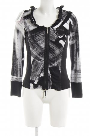 Airfield Short Jacket black-white mixed pattern casual look