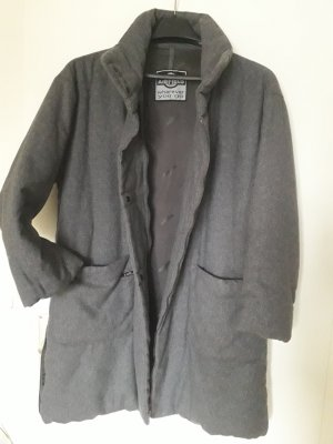 Airfield Short Coat grey alpaca wool