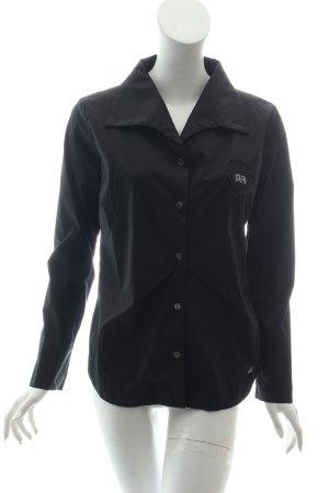 Airfield Langarm-Bluse schwarz Casual-Look