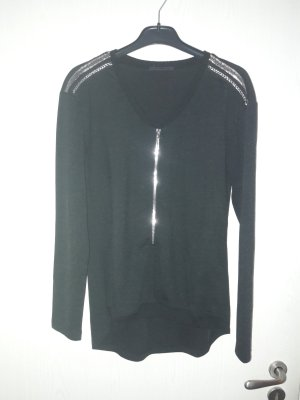 Airfield Longsleeve black-silver-colored