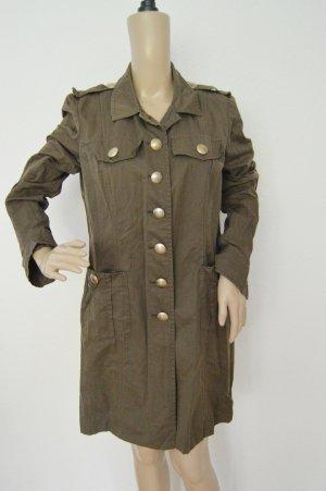 Airfield leichter Mantel gr.38 braun leinen-baumwolle