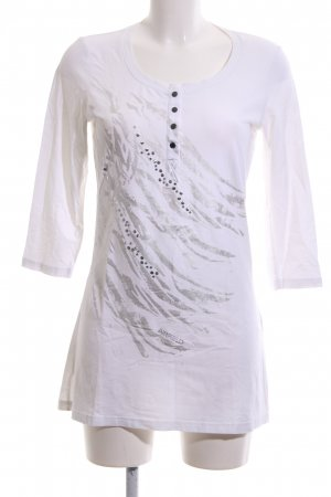 Airfield Long Shirt white-silver-colored animal pattern casual look
