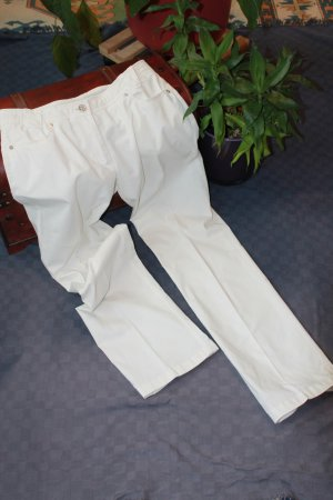 Airfield Stretch Trousers white cotton
