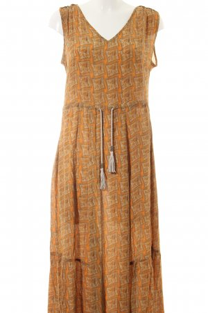 Airfield Maxi Dress light orange-bronze-colored allover print casual look
