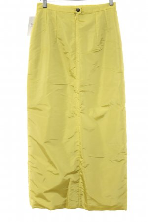 Airfield Maxi Skirt neon yellow extravagant style