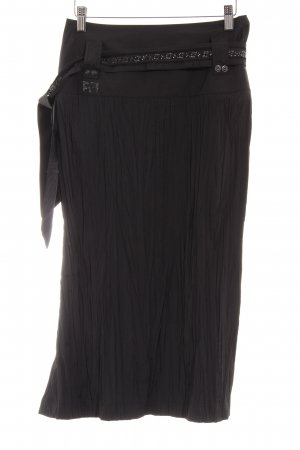 Airfield Midi Skirt black glittery