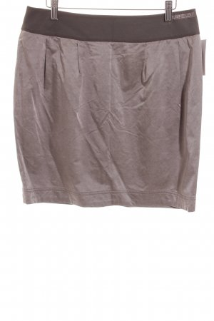 Airfield Miniskirt grey brown shimmery
