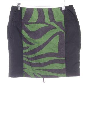 Airfield Mini rok zwart-groen extravagante stijl
