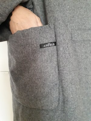 Airfield Oversized Coat grey alpaca wool