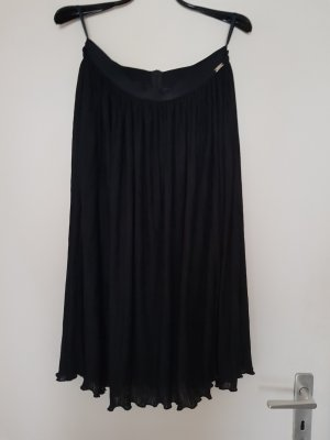 Airfield Pleated Skirt black viscose
