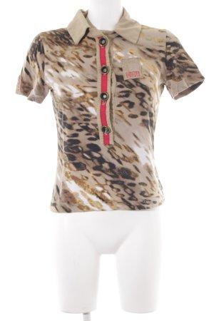 Airfield Polo shirt luipaardprint casual uitstraling