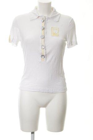 Airfield Polo-Shirt weiß-hellgelb Casual-Look