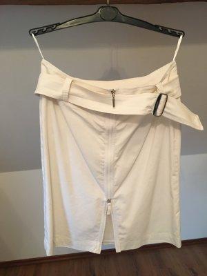 Airfield Rock 42 Skirt Weiß Minirock Zipper Sexy Gürtel Designer L