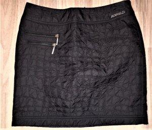 Airfield Mini-jupe noir-argenté tissu mixte