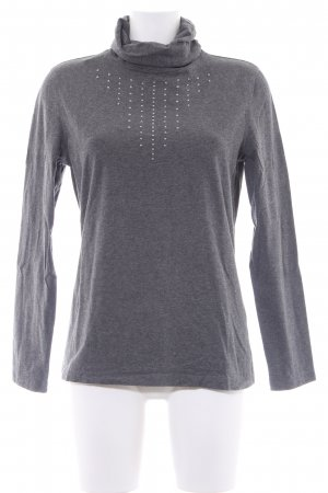 Airfield Turtleneck Sweater dark grey graphic pattern casual look