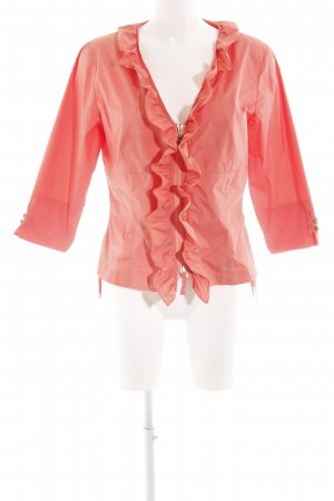 Airfield Ruffled Blouse pink elegant