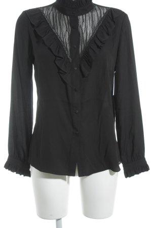 Airfield Rüschen-Bluse schwarz Elegant