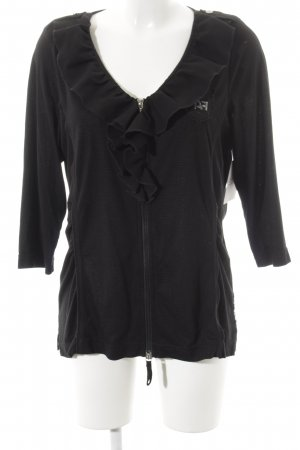 Airfield Giacca-camicia nero-argento elegante