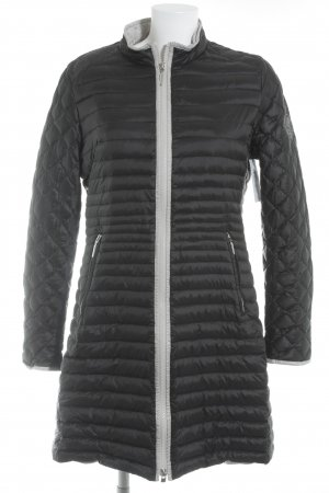 Airfield Quilted Jacket black-light grey quilting pattern athletic style