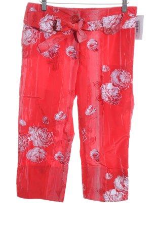 Airfield Pantalon en jersey motif de fleur style romantique