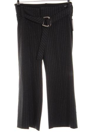 Airfield Jersey Pants black-light grey striped pattern business style
