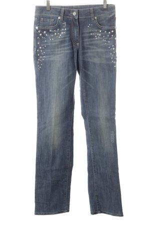 Airfield Jeans met rechte pijpen blauw casual uitstraling