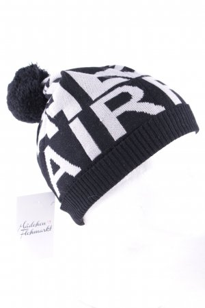 Airfield Knitted Hat black-beige monogram pattern athletic style