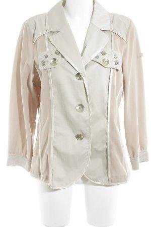 Airfield Blazer sweat beige-crema caratteri ricamati stile casual