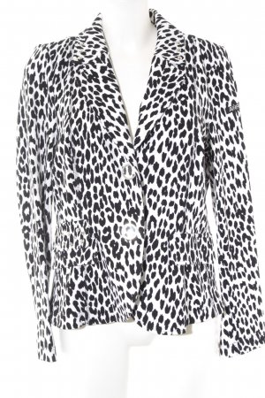 Airfield Blazer sweat nero-bianco Stampa leopardata impronta animale